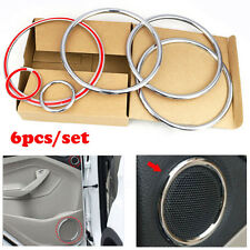 6PCS FOR ESCAPE KUGA CHROME DOOR STEREO SPEAKER COLLAR COVER TRIM RING A PILLAR