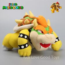 Anime Super Mario Bros Bowser King Koopa Plush Toy Soft Stuffed Doll 10'' Teddy