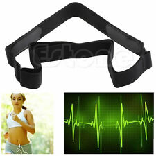 Adjustable Chest Belt Strap Band For Sport All Heart Rate Monitor Sensors Black