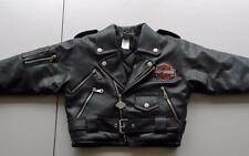 Harley Davidson Motorcycles Black Faux Leather Jacket Youth Size 5