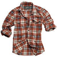 SURPLUS RAW VINTAGE WOODCUTTER SHIRT CHECKED RED LONG SLEEVE LUMBERJACK