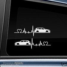 (1542) 2x Fun sticker autocollant/rythme cardiaque AUDI a3 8p sporback