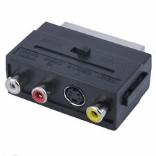 Popular RGB Scart to Composite 3RCA S-Video AV TV Audio Adapter TB