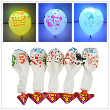 "20Pcs Cartoon LED Balloon 12"" Latex Multicolor Flash Lights Balloons For Kid"