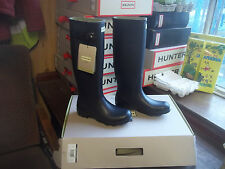 NAVY BLUE NORRIS HUNTER WELLINGTONS WELLIES IN HALIFAX SIZE 7  LADIES TALL