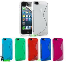 CUSTODIA CASE COVER PER APPLE IPHONE 5 5S WAVE ONDA S LINE TRASPARENTE SLIM TPU
