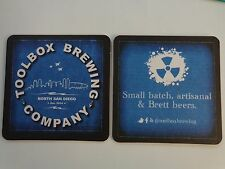 Beer Coaster ~*~ TOOLBOX Brewing Co ~ North San Diego, CALIFORNIA ~ Opened 2014