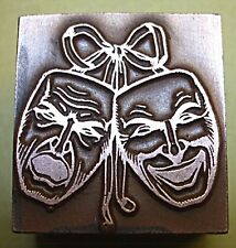 "THEATRICAL ""CAMEO MASK"" PRINTING BLOCK."