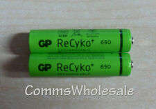 2 x Quality GP ReCyko Rechargeable NiMH 650MaH 1.2V AAA for Cordless Phones
