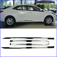 4pcs Stainless Body door Outer Side trim Cover Fit For Toyota Corolla 2014-2016