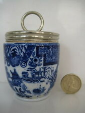 VERY RARE EARLY ROYAL WORCESTER EGG CODDLER WILLOW FLOW BLUE AND WHITE A