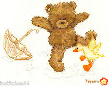 Vervaco Popcorn Bear Cross Stitch Kit  Splashing Around