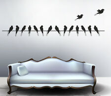 Wall Stickers Wall Decals Beautiful Long Tail Birds on Wire