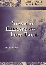 PHYSICAL THERAPY OF THE LOW BACK HARDCOVER BOOK