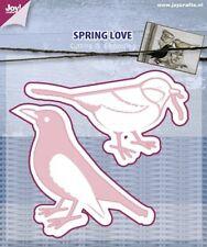 Joy Crafts-Die corte y grabado de plantilla de la primavera De Amor-Aves - 6002/0440