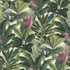 Exotic Parrot Jungle Wallpaper by Ideco - A11504
