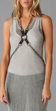 Temperley London Black/Gunmetal Buckle Harness  Size 3