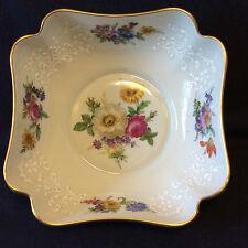 Porcelaine Limoges petit saladier coupe décor floral peint et émaillé début XX e