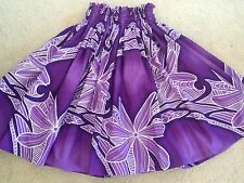 "NEW PURPLE HAWAIIAN HULA PAU PA'U SKIRT 28"" LONG"