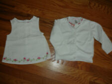 JANIE JACK GYMBOREE GIRLS LOT SET OF 2 SWEATER CARDIGAN SHIRT size 18 24M WHITE
