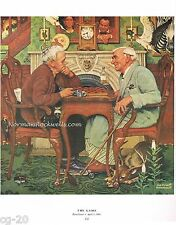 "Norman Rockwell print ""THE GAME"" 8x10"" / 11x15"" hidden objects  APRIL FOOL's DAY"