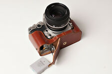 Genuine real Leather Half Camera Case bag cover for Nikon DF Bottom Open Version
