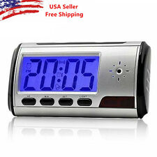 Spy Camera Alarm Clock Mini Video Recorder Hidden Nanny Cam DVR Motion Detection