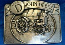 1988 John Deere Model D Tractor Silver Tone Belt Buckle New in Box