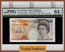 TT PK 386a 1993 GREAT BRITAIN QUEEN ELIZABETH II 10 POUND PMG 64 EPQ CHOICE UNC!
