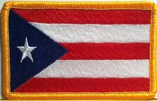 PUERTO RICO Flag Patch With VELCRO® Brand Fastener Military Emblem #905