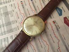 VINTAGE RARE 1960 GOLD OMEGA ANTIMAGNETIC HAND WINDING - SUB SEC DIAL !
