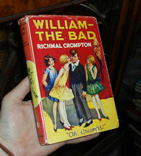 William the Bad - - - By Richmal Crompton - - - 1963 Edition in Dust Jacket