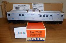 LIONEL 6-27917 B&O MAIL BAGGAGE BUDD CAR 2550 NON-POWERED O GAUGE POSTWAR REMAKE