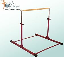 Gymnastics Bar Model DX, Color: Barney Purple, Adjustable 3' - 5' solid wood