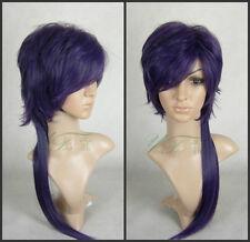 Hakuouki Fashion Hair Wig - Saito a!Long Purple Black Cosplay Party Wig