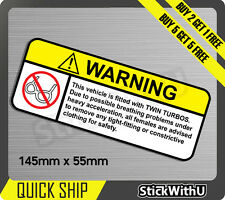 Warning Turbo Girls sexy Sticker Decal Vinyl JDM race Car drift Turbo 1V58