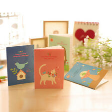 Animal Diary Notebook Paper Writing Memo Planner Travel Journal Note Book