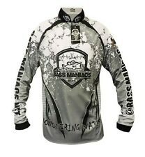 Bass Maniacs Fishing Jersey White Splash Tournament Bass Jersey UV Protection