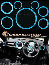 MINI Cooper/S/One R56 Hatch R57 R58 Coupe R59 Roadster BLAU Innenraum Ring Set