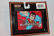 NEW IN PACKAGE  SUPERMAN KIDS TRIFOLD  RED WALLET