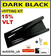CAR WINDOW TINT FILM TINTING DARK BLACK  SMOKE 15% 76cm x 3M NEW