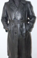 Men's Genuine RARE Post  WW2 German Officer Leather Jacket Coat 50 / UK 40 / M-L