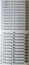 WEDDING INVITATION HEARTS AND DOUBLE RINGS PEEL OFF STICKERS GOLD OR SILVER