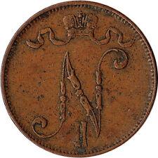 1911 Finland (Russian) 5 Pennia Coin Nicholas II KM#15