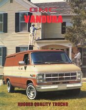 1981 GMC Vandura Magnavan Rally Camper Van Dealer Sales Brochure