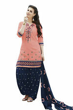 Patiala Indian Designer cotton dress material- 7661