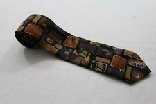 KR4136   Krawatte  Mehrfarbig mit Motiv Sehr gut