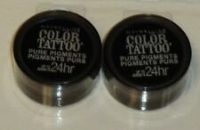 2 Maybelline Color Tattoo Pure Pigment 24hr Eye Shadow BLACK MYSTERY #30