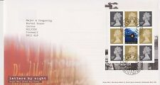 GB ROYAL MAIL FDC FIRST DAY COVER LETTERS BY NIGHT PRESTIGE PANE TALLENTS HOUSE
