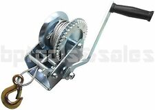 2000lb Steel Cable Hand Winch Crank Heavy Duty Winch ATV Jet Ski Trailer Boat